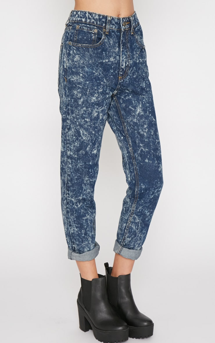 Saskia Blue Acid Wash Mom Jeans 5