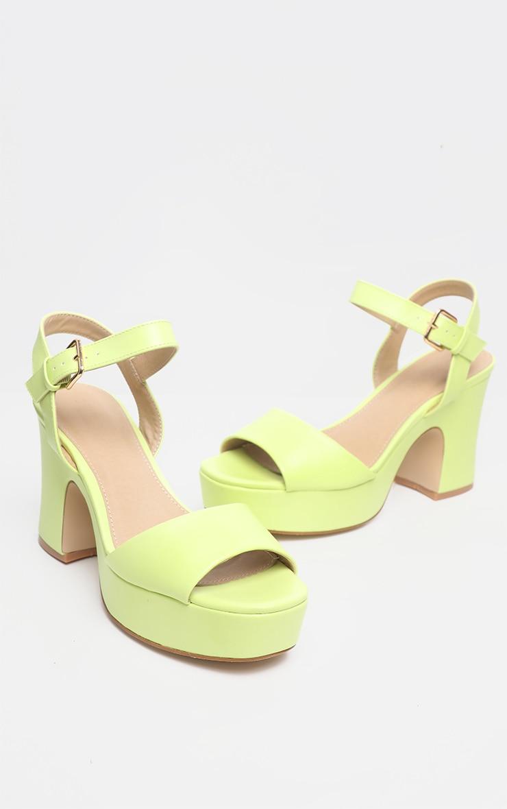 b2f005374 Neon Yellow 70'S Platform Chunky Sandal | PrettyLittleThing