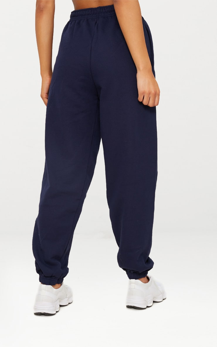 Navy Blue Casual Joggers 5