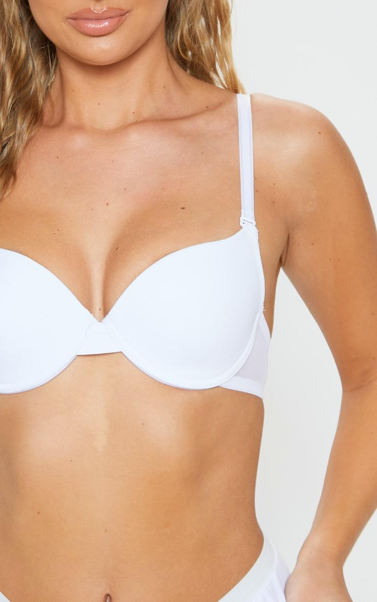 White Basic T-Shirt Bra 4