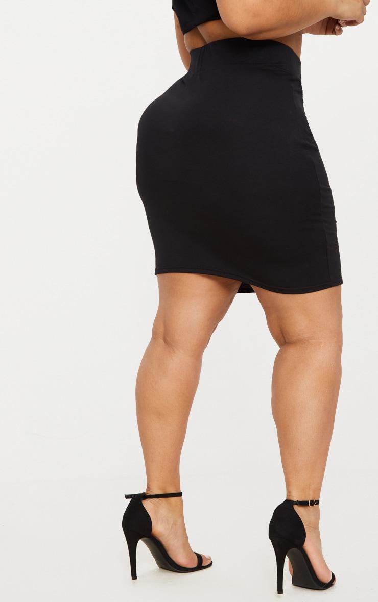 Plus - Jupe noire moulante à taille haute 4