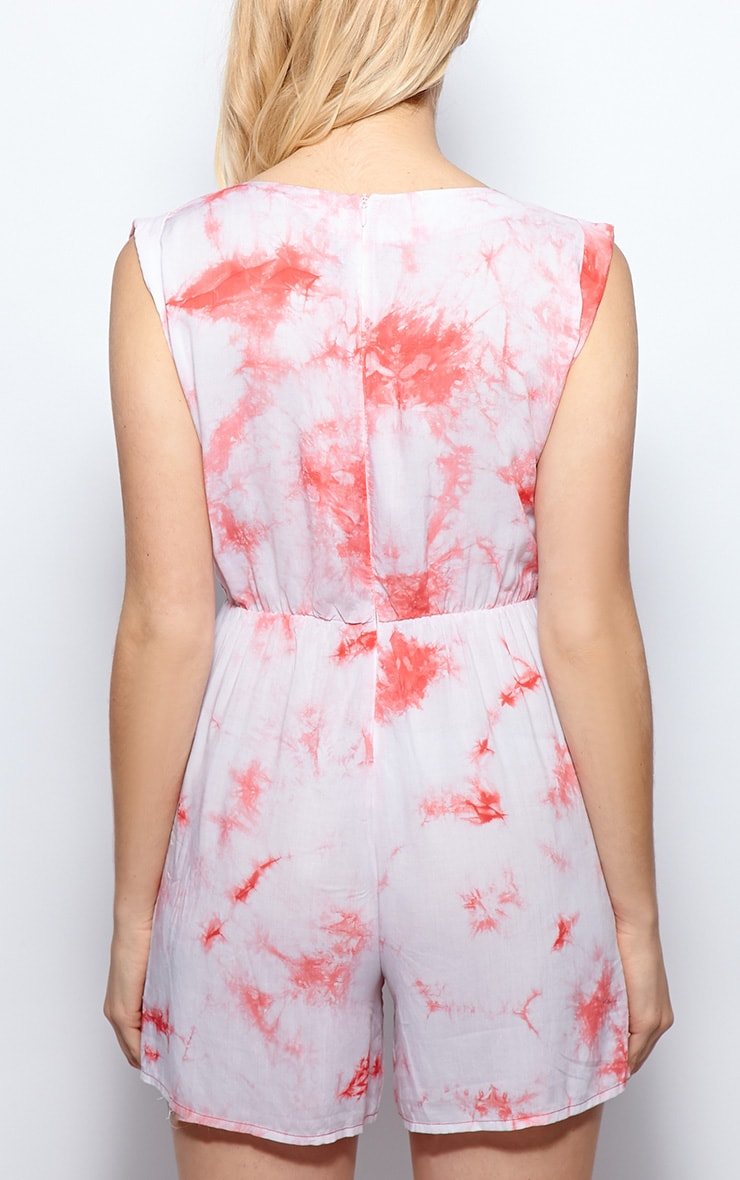 Lucy Red Tie Dye Playsuit 2