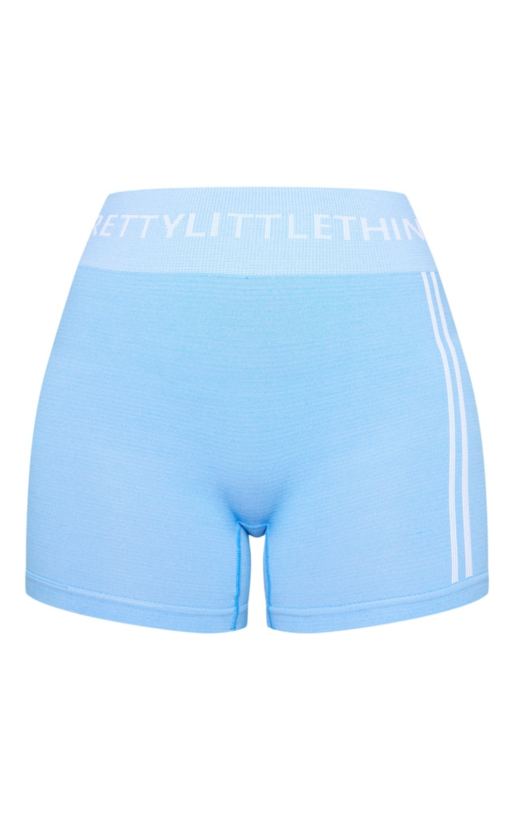PRETTYLITTLETHING Blue Seamless Booty Shorts 6
