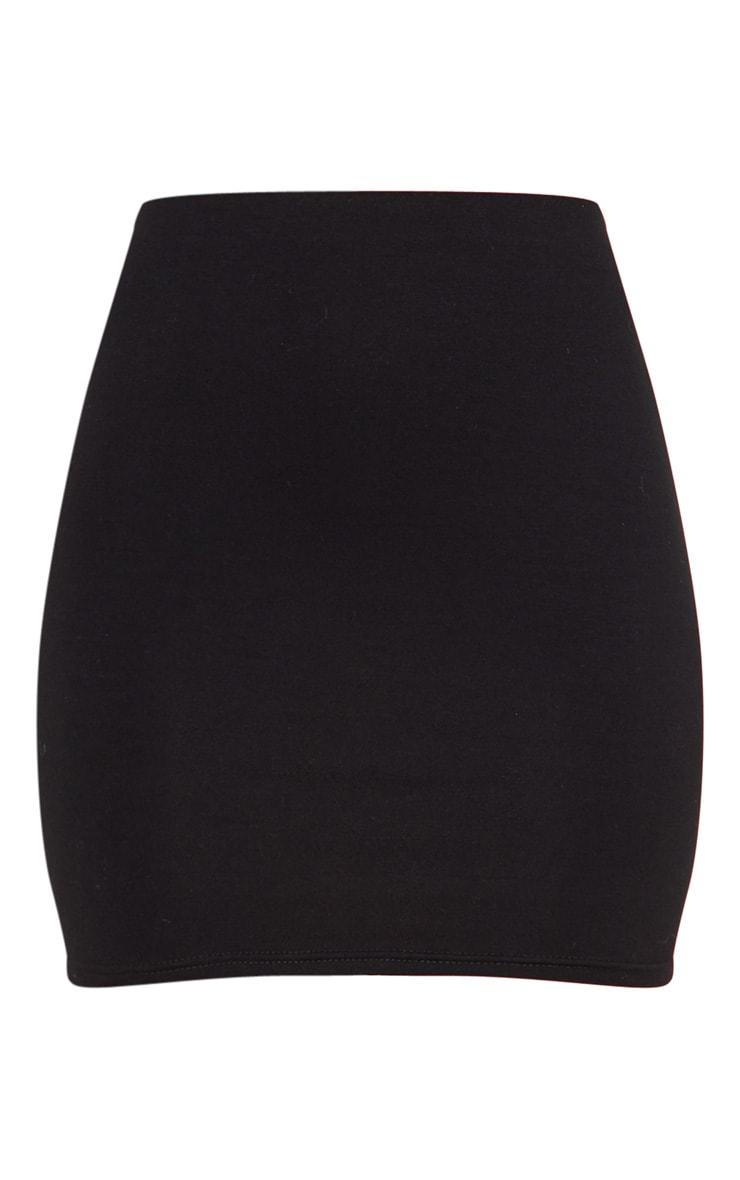 Black Cotton Mini Skirt 3