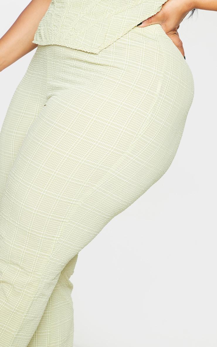 Plus Sage Green Wide Leg Textured Pants 4
