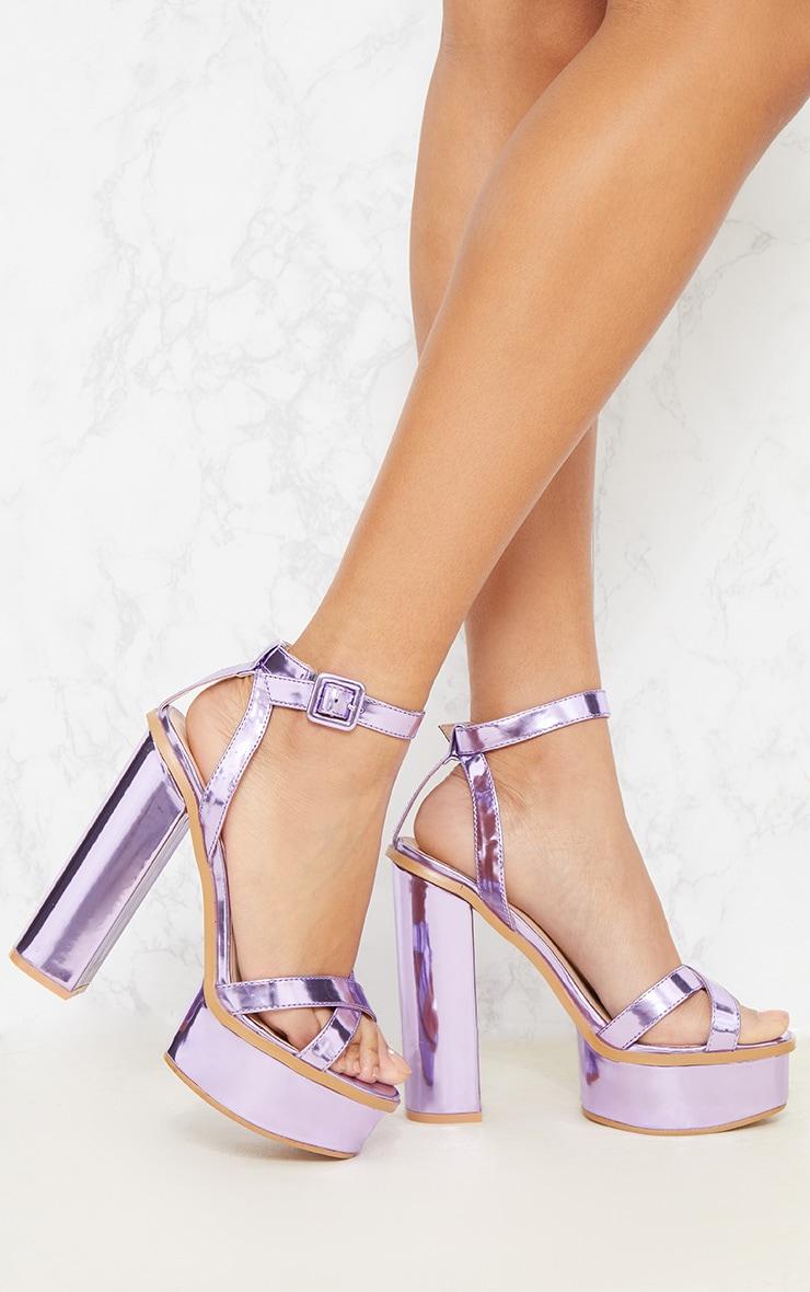 Lilac High Platform Sandal 1