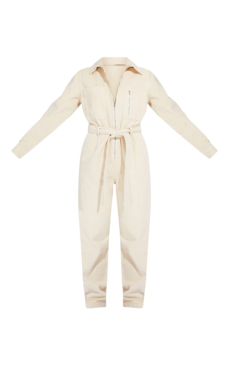 Stone Oversized Cord Belted Jumpsuit 5
