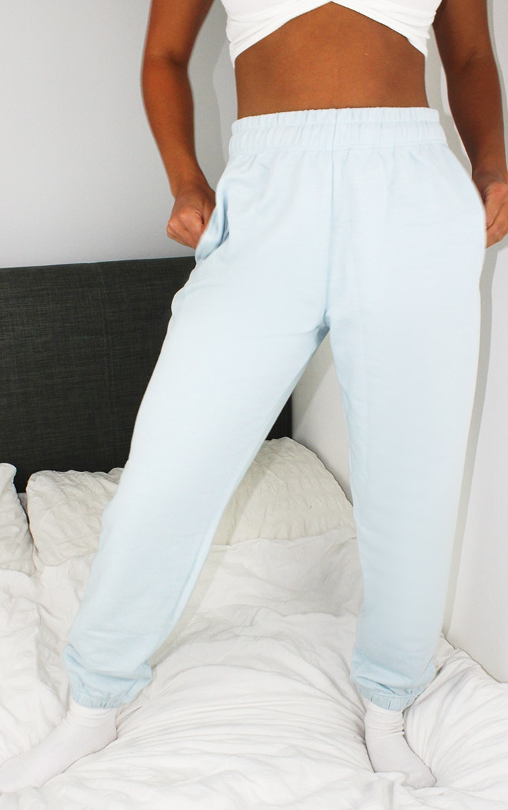 Petite Baby Blue Casual Joggers 2