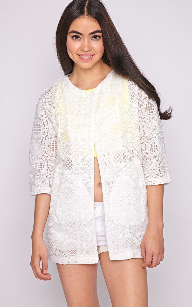 Lottie White Embroidered Jacket 4