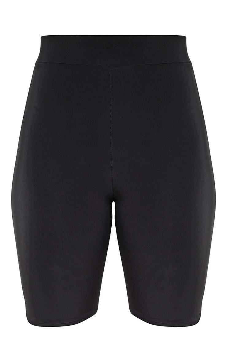 Black High Waist Bike Shorts 3