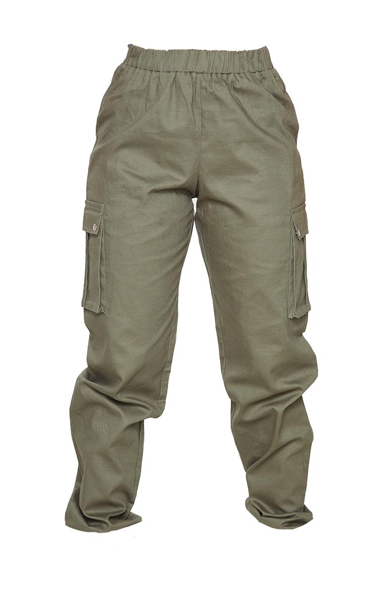 Petite - Pantalon cargo kaki détail poches 5