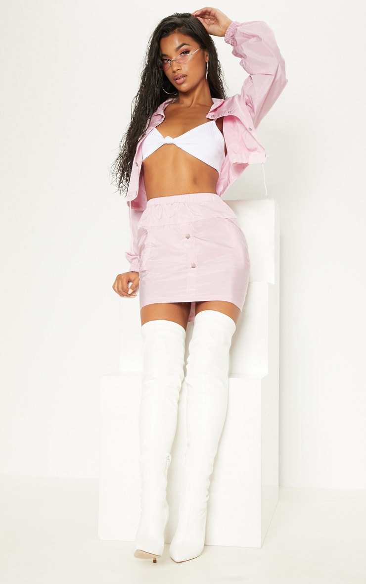 Pink Shell Suit Skirt 5