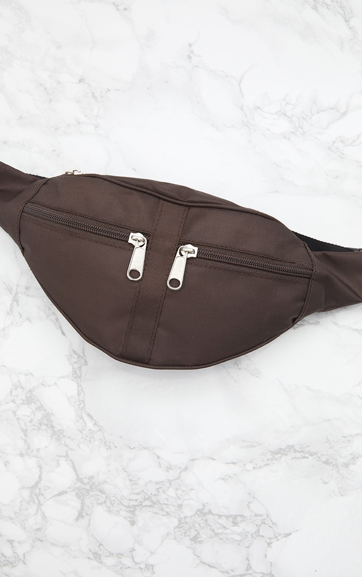 Mocha Double Zip Bum Bag 6