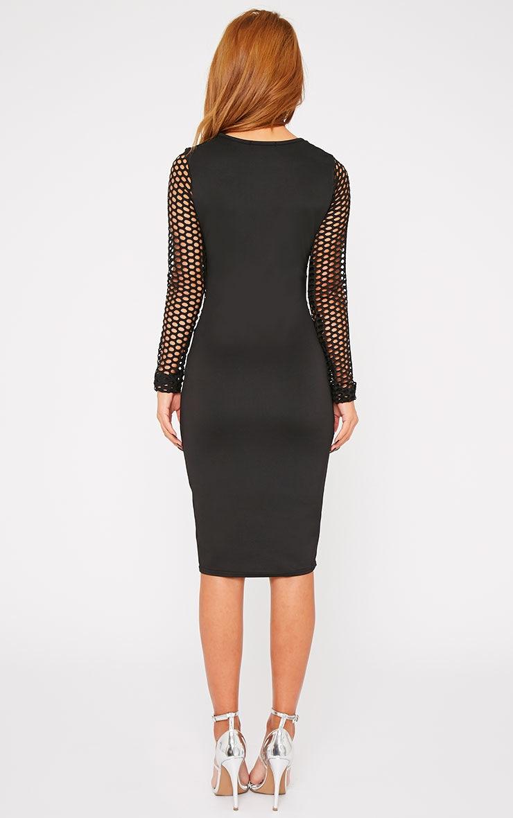Tori Black Large Fishnet Insert Dress 2