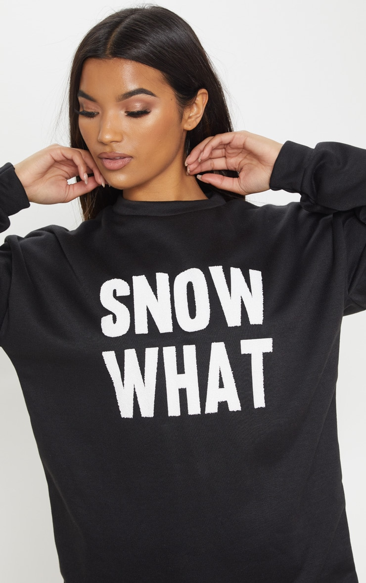 Snow What Black Christmas Jumper Dress 5