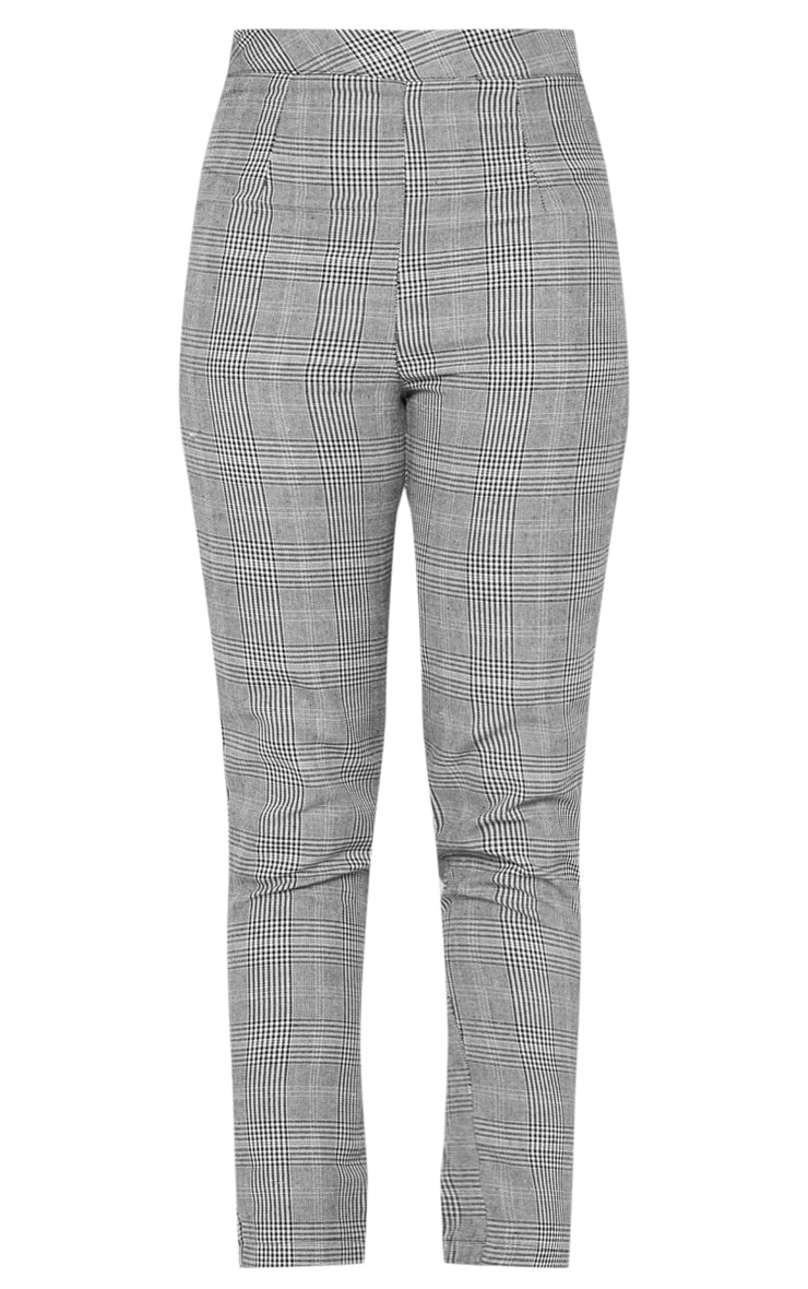 Tall Grey Checked Pants 3