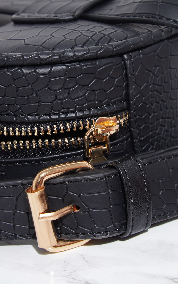 Black Croc Large Bum Bag 3