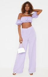 Lilac Frill Detail Cut Out Wide Leg Jumpsuit 1