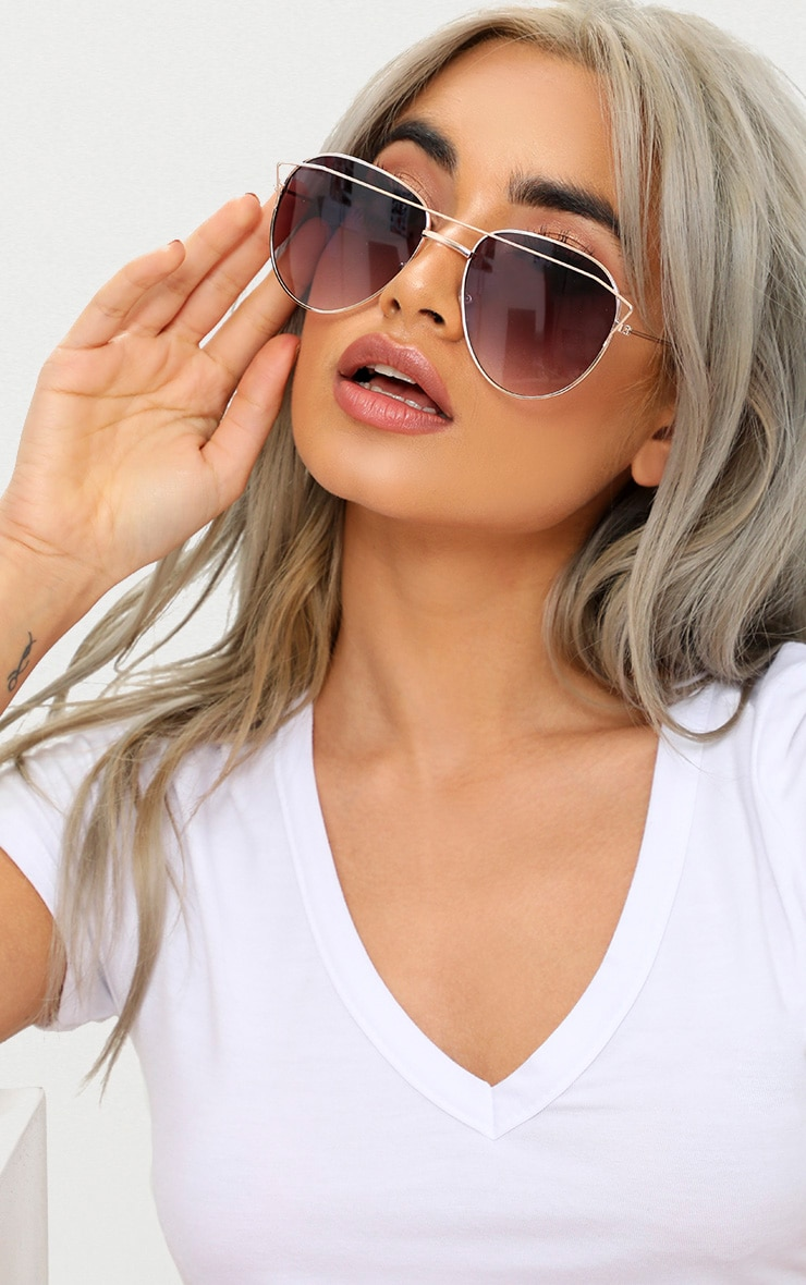 Black Aviator Sunglasses  1