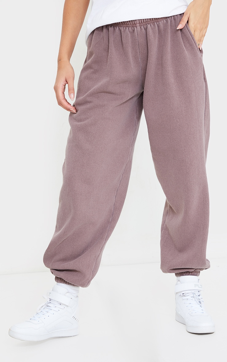 Mauve Washed Casual Joggers 2