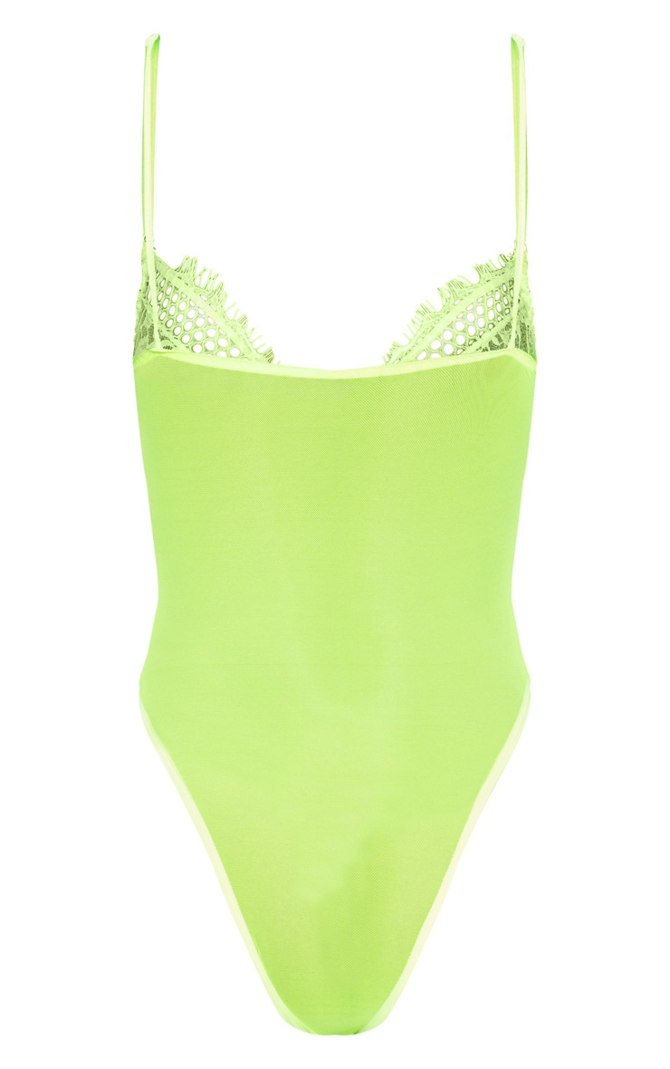 Neon Lime Eyelash Lace & Fishnet Body 4