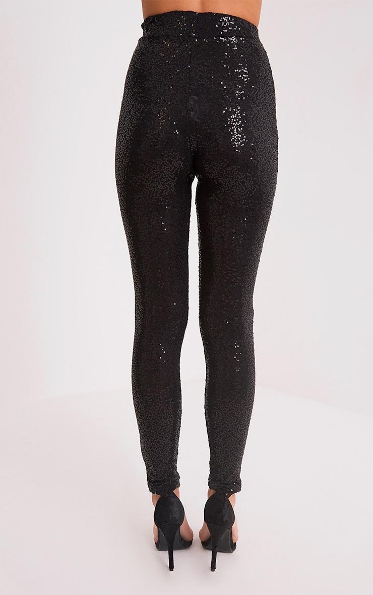 Jennia Black Sequin Trousers 4