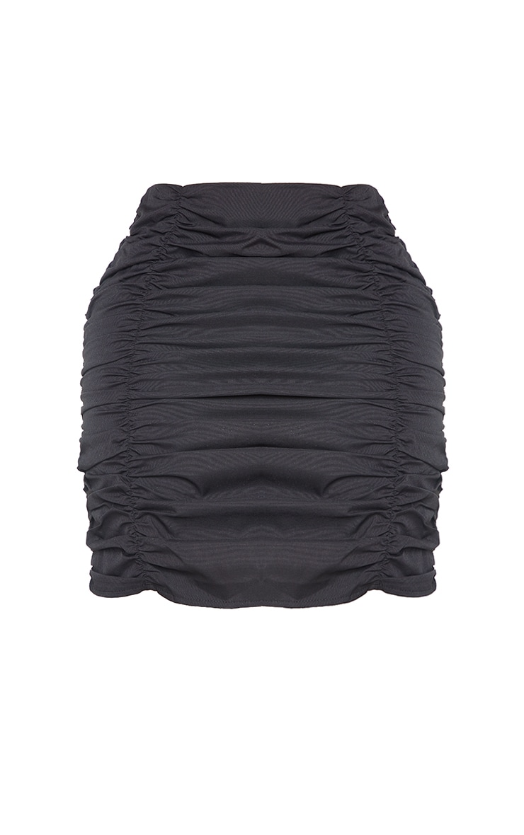 Shape Black Ruched Bodycon Skirt 6