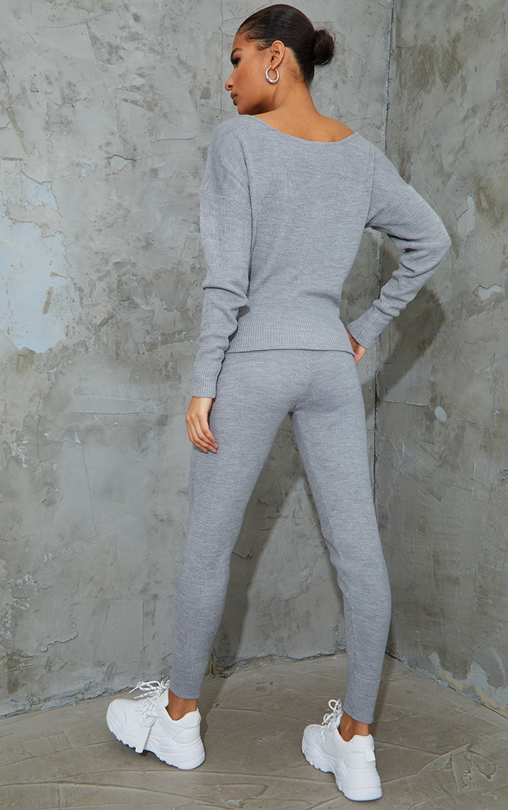 Grey Knitted Lounge Set 2