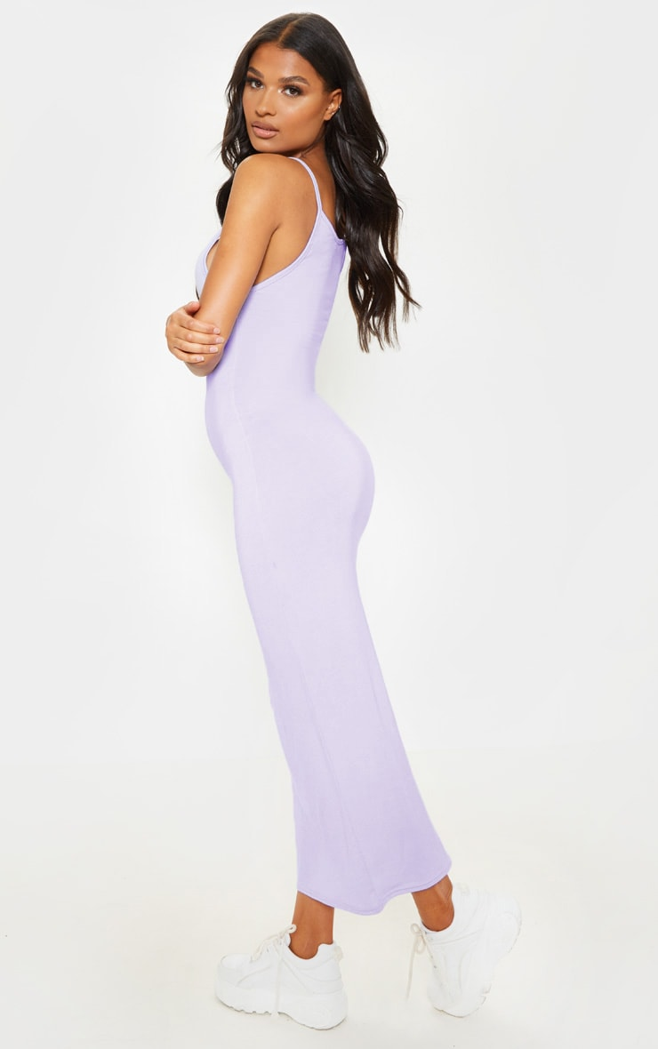 Lilac Drop Arm Hole Vest Maxi Dress 2
