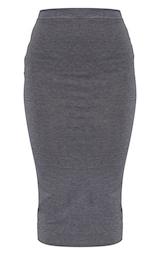 Charcoal Ultimate Jersey Longline Midi Skirt 5