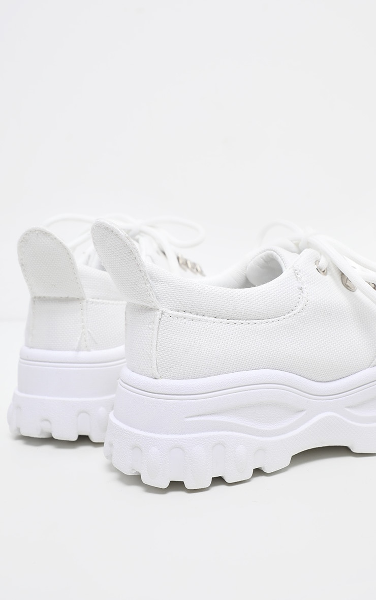 White Flatform Chunky Hiker Trainer  4