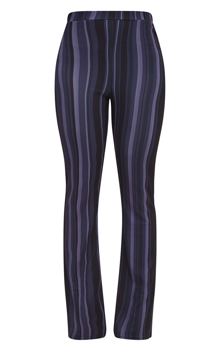 Navy Striped Wide Leg Trouser 3