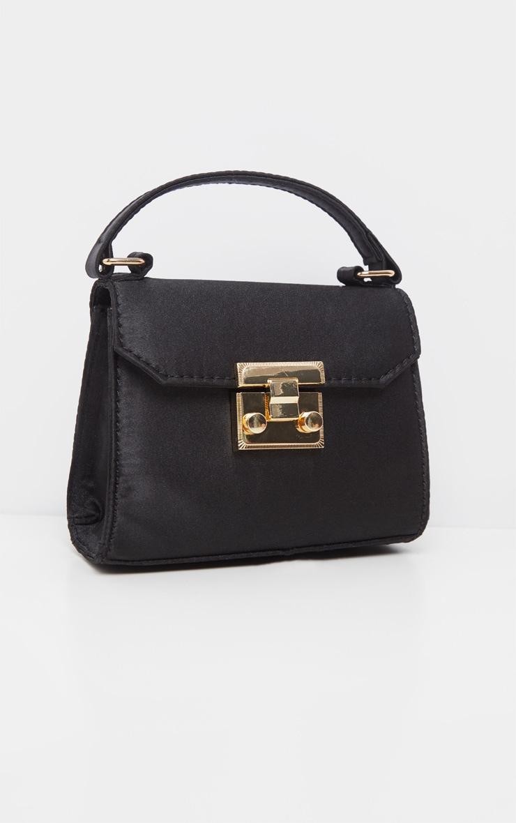 Black Satin Square Mini Bag 2