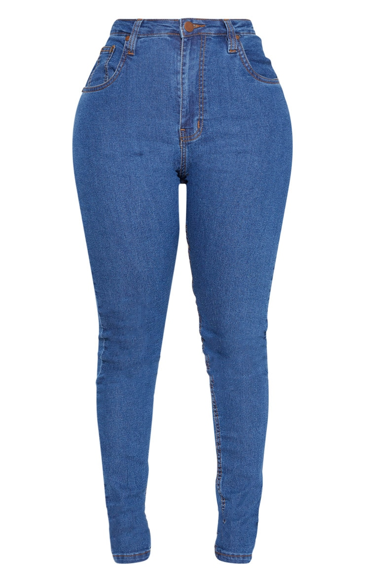 Shape Mid Wash High Waist Super Stretch Denim Jeans 3