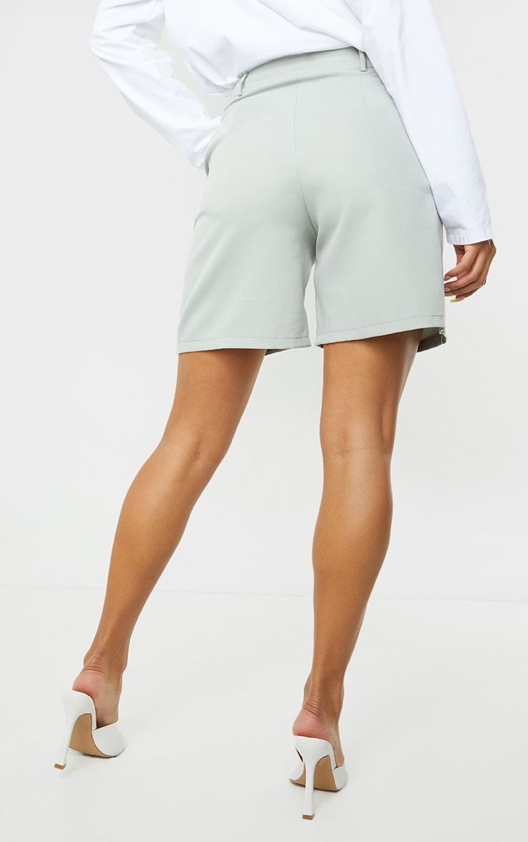 Soft Mint Woven Tailored Shorts 3