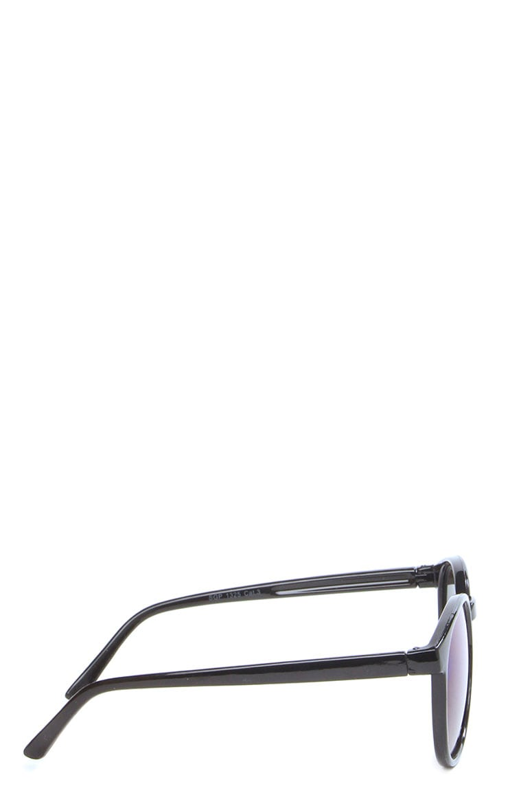 Elva Blue Mirrored Wayfarer Sunglasses 7