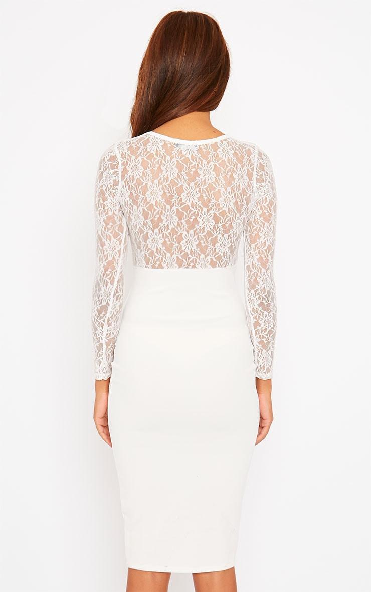 Perla Cream Lace Insert Dress 2