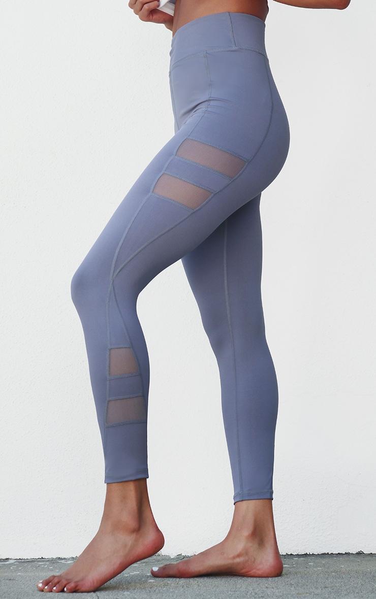 PRETTYLITTLETHING Grey Sport High Waist Gym Leggings 2