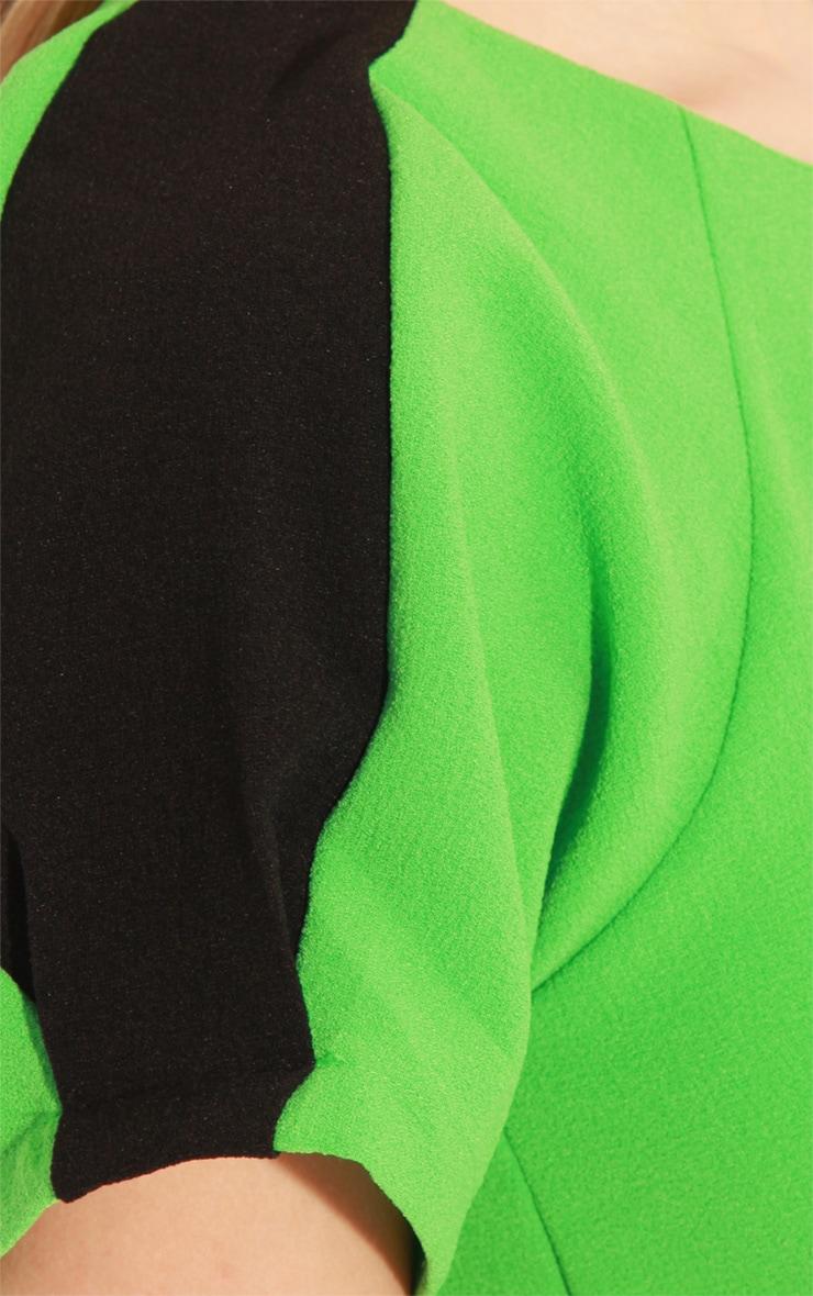 Kenzie Green & Black Shift Dress 5