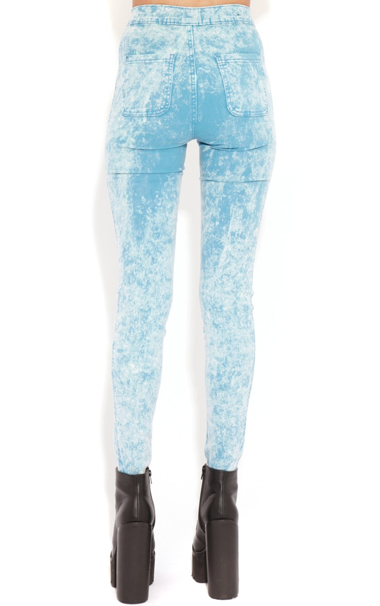 Annie Blue Acid Wash Skinny Jeans 2