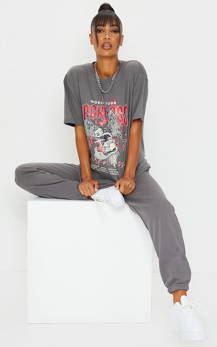Grey World Tour Reckless Printed T Shirt 3