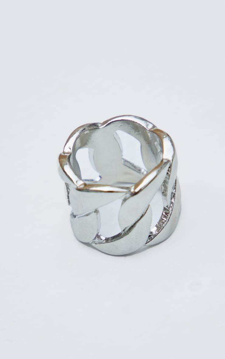 Silver Extra Chunky Chain Ring 3