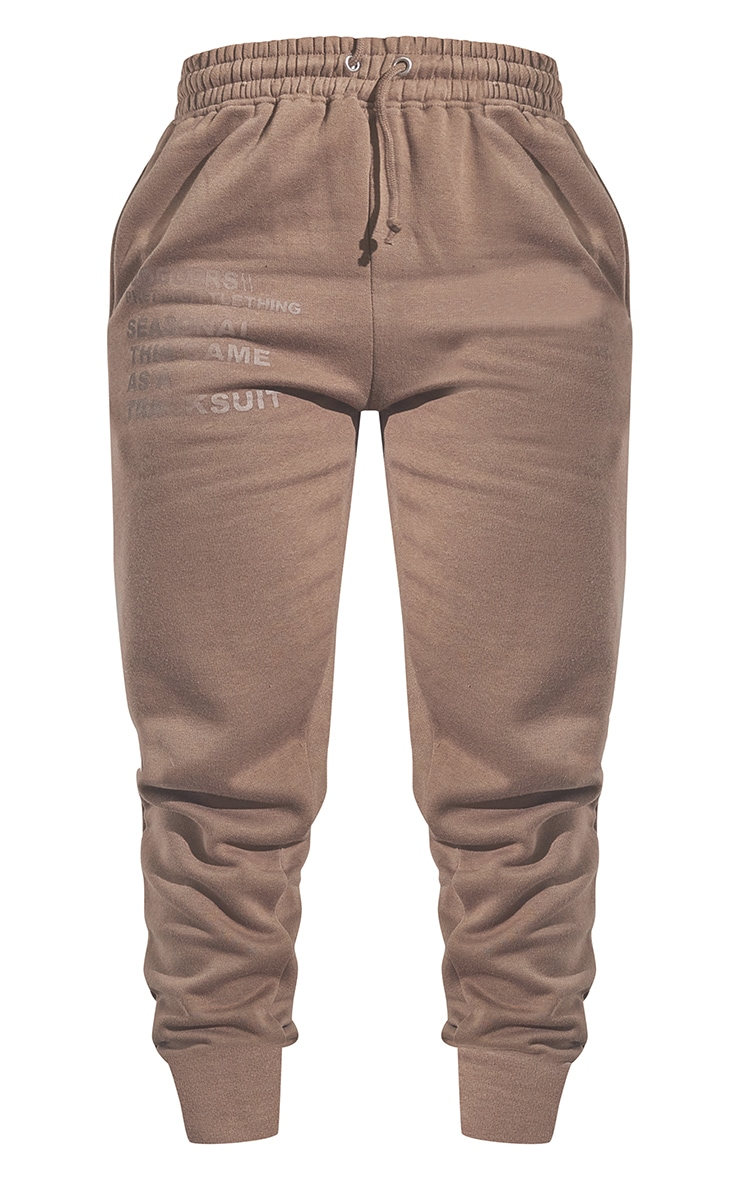 RENEW PRETTYLITTLETHING Chocolate Brown Oversized Cuffed Joggers 5