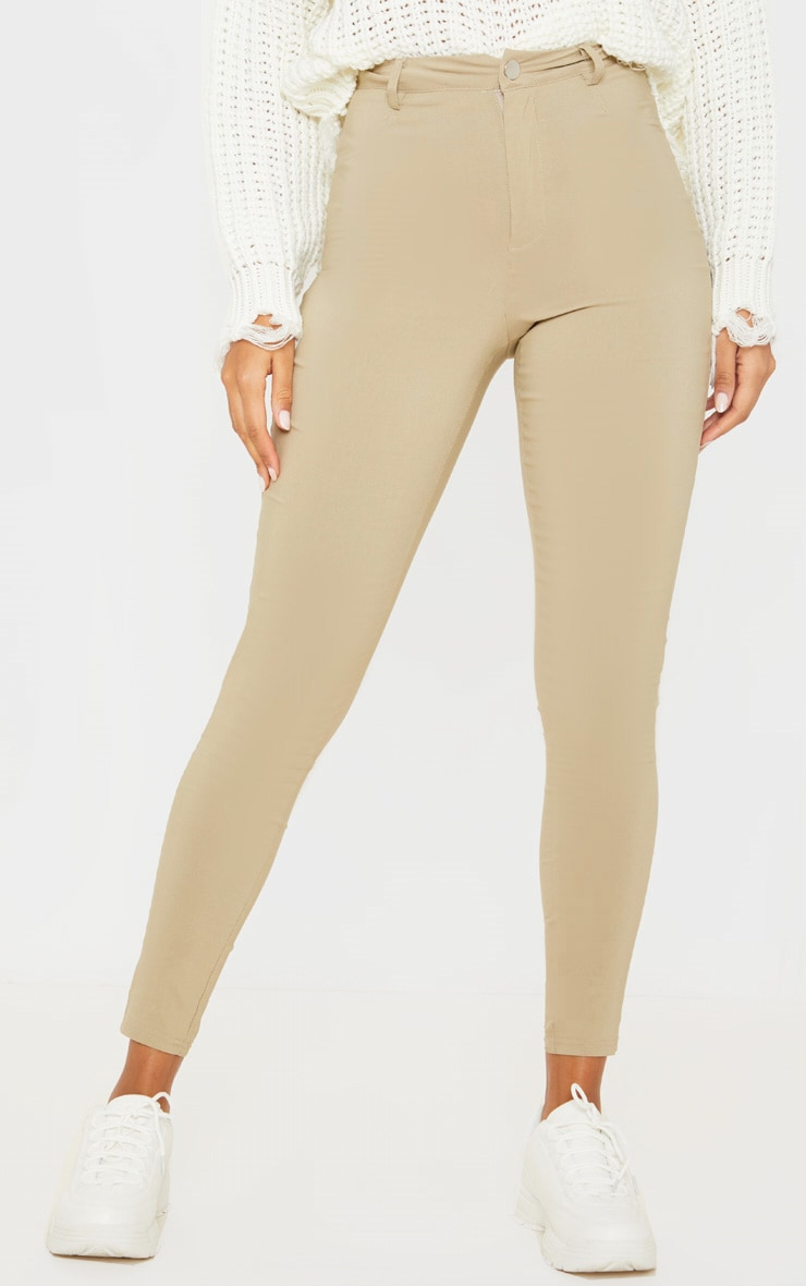 Camel Popper High Waisted Stretch Jegging 2