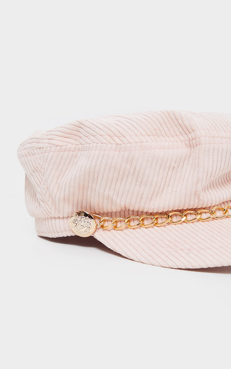 Cream Cord Baker Boy With Gold Chain Detail 3