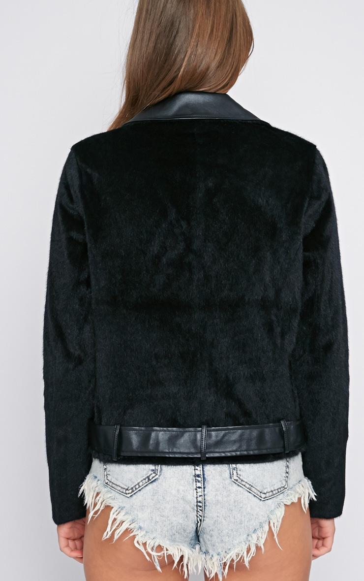 Cass Premium Faux Ponyskin Biker Jacket 2
