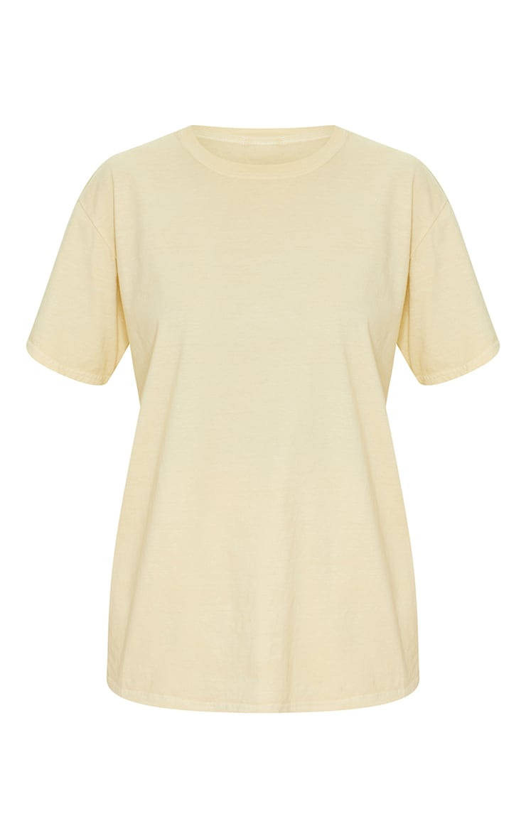 Pale Yellow Washed Oversized T Shirt 5