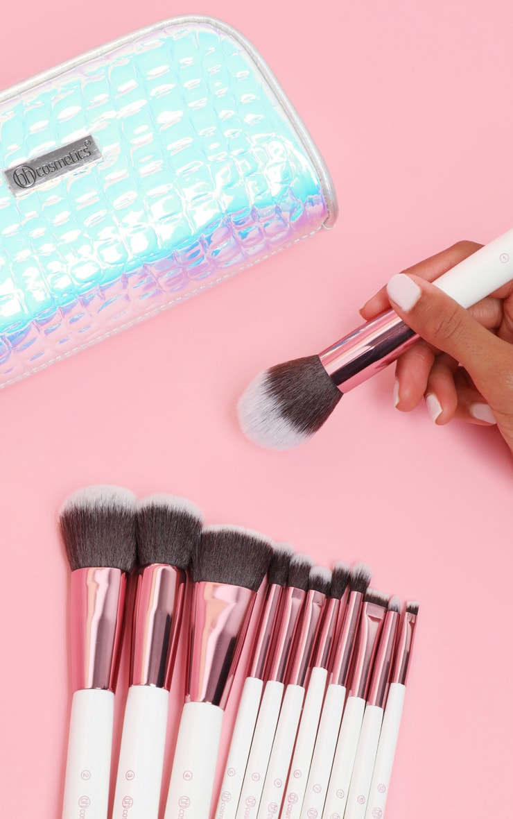 BH Cosmetics Crystal Quartz 12 Piece Brush Set with Bag 2