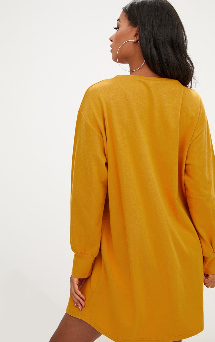 Mustard Oversized Sweater Dress 2