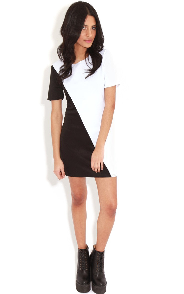 Jadie Monochrome Scuba Dress 5
